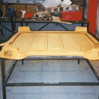Tractor roof panel